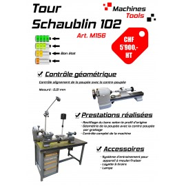Tour Schaublin 102 sur établi