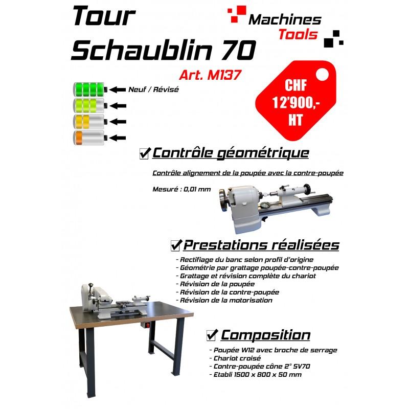 Lathe Schaublin 70 workbench